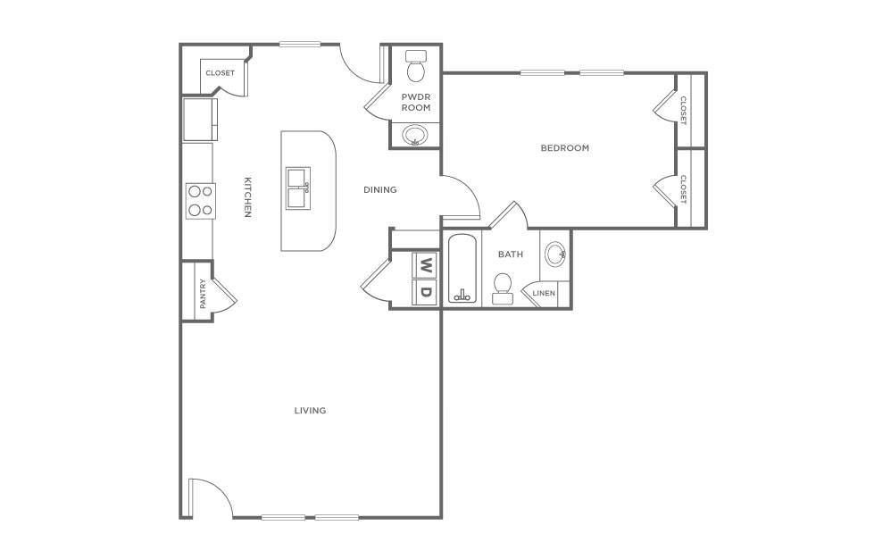 Craigslist Norman Ok >> 1 Bedroom Flat | Floorplans | The Avenue at Norman