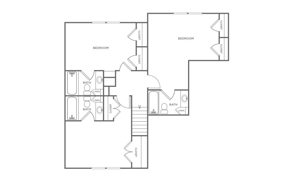 Craigslist Norman Ok >> 3 Bedroom Townhome | Floorplans | The Avenue at Norman