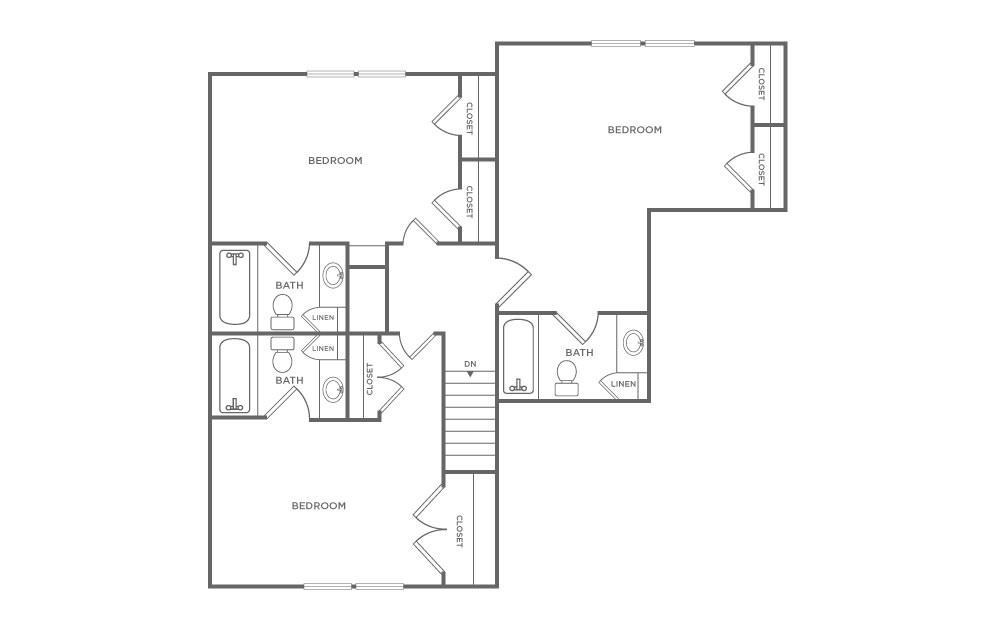 Craigslist Norman Ok >> 4 Bedroom Townhome | Floorplans | The Avenue at Norman