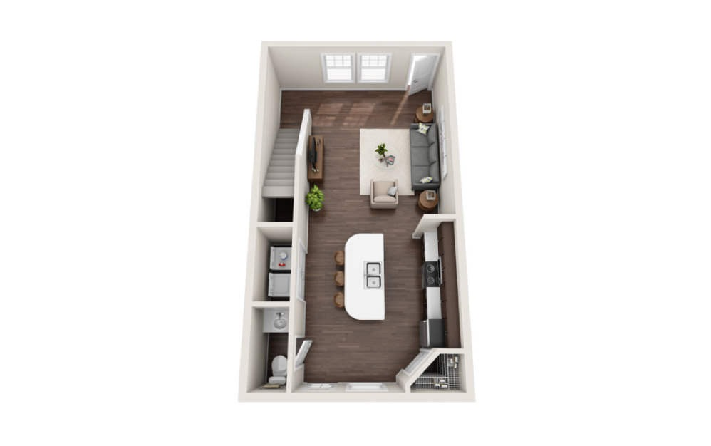 2 Bedroom Townhome