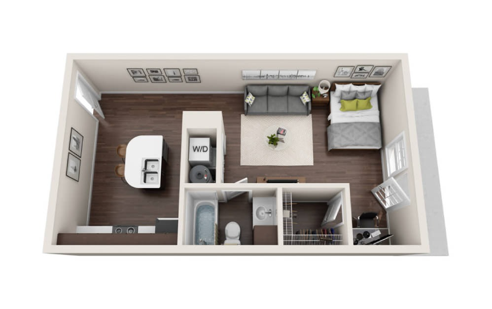 Studio Flat Floorplans The Avenue at Norman